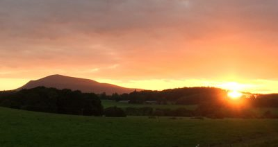 Sunset at Thripland Farm, Biggar