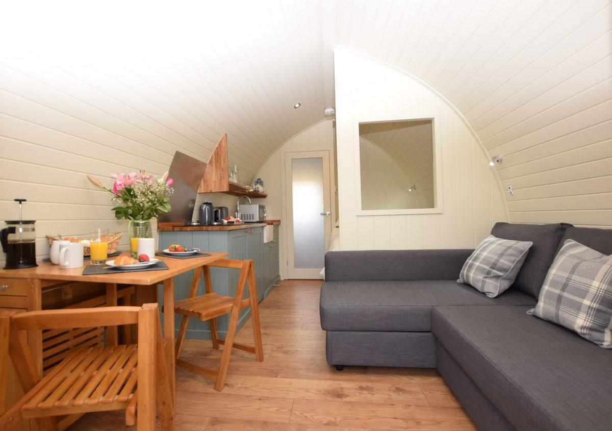 The Stag - Luxury Micro Lodge Seating Area