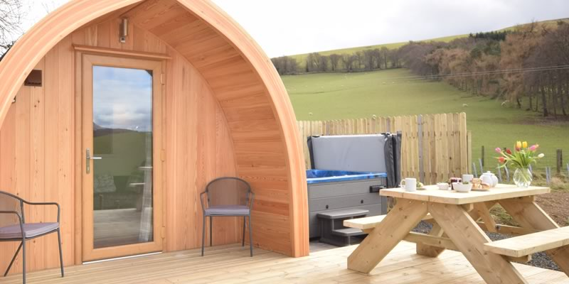 The Hare Luxury Pod in the Scottish Borders