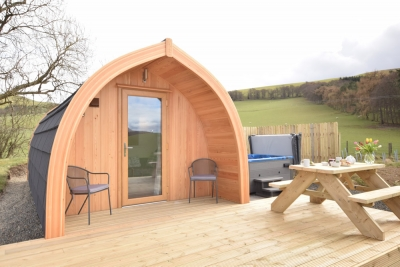 The hare pod perfect for a romantic getaway